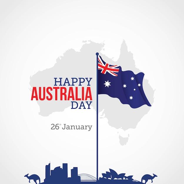 Australien-tag Premium Vektoren