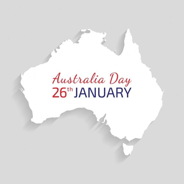Australiens tag hintergrund-design Kostenlosen Vektoren