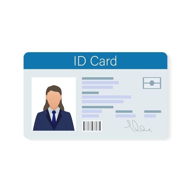 Ausweis, ideal für jeden zweck. . . schablonendesign. Premium Vektoren