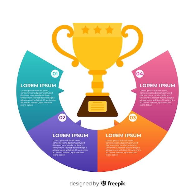 Auszeichnung infografik Kostenlosen Vektoren