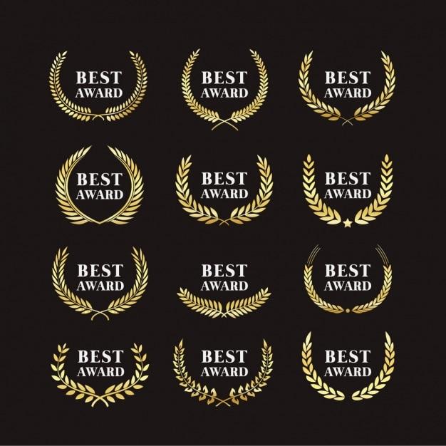 Auszeichnungen abzeichen Kostenlosen Vektoren