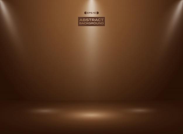 Auszug der dunklen schokoladenfarbe im studioraumhintergrund Premium Vektoren