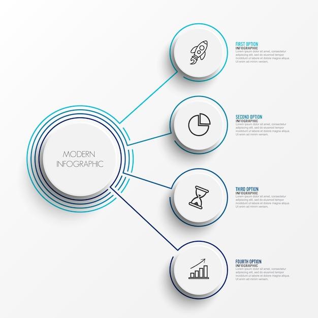 Auszug der infographic schablone Premium Vektoren