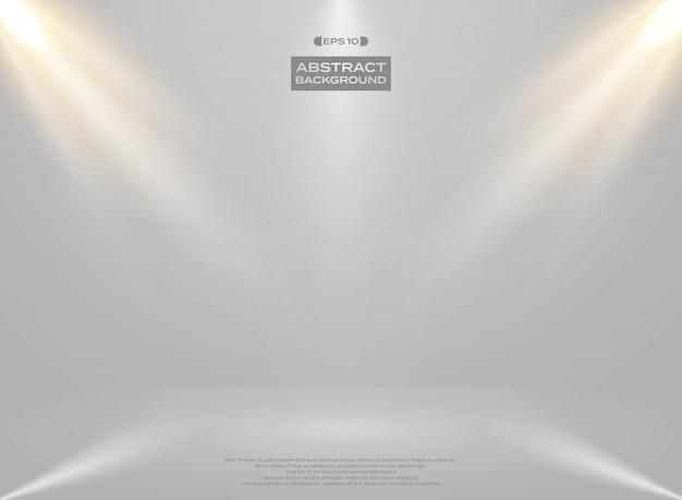Auszug der lichtstudio-raumdarstellung Premium Vektoren