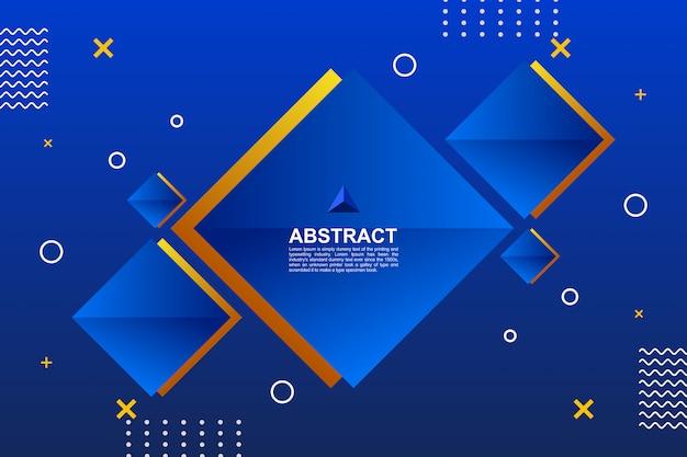 Auszug farbiger blauer geometrischer hintergrund Premium Vektoren