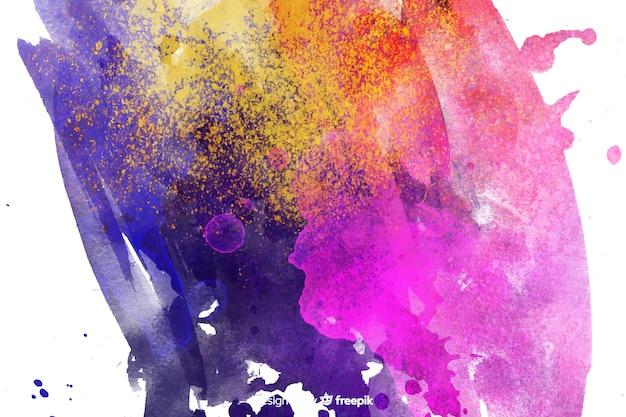 Auszug gemalter hintergrund mit einfachen farben Kostenlosen Vektoren