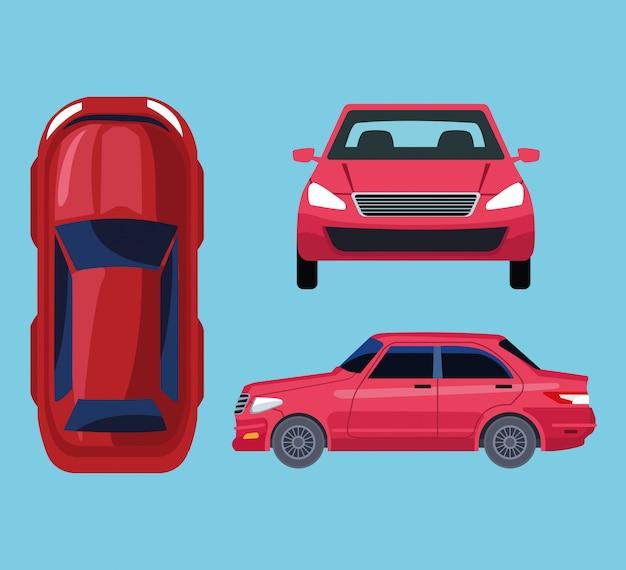 Auto alle ansichten Kostenlosen Vektoren