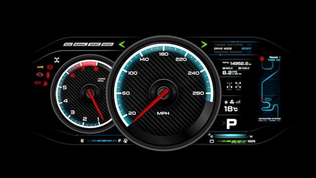 Auto armaturenbrett vektor-illustration Premium Vektoren