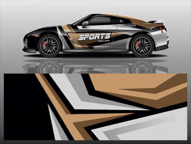 Auto aufkleber wrap design vektor Premium Vektoren
