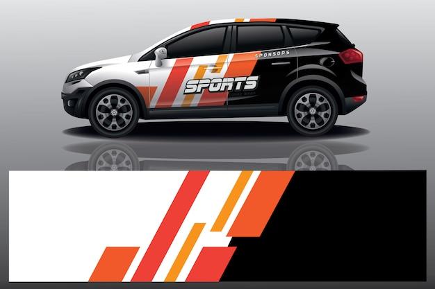 Auto aufkleber wrap design Premium Vektoren