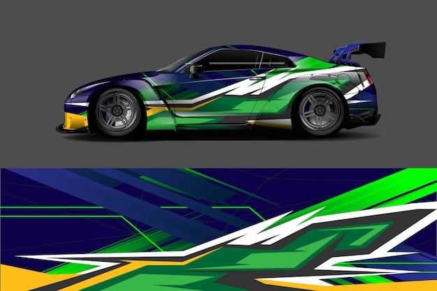 Auto aufkleber wrap illustration Premium Vektoren