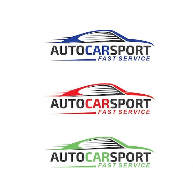 Auto-auto-sport-logo Premium Vektoren