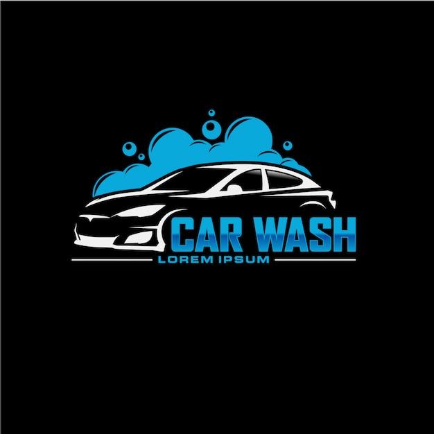 Auto-autowasch-logo-design Premium Vektoren