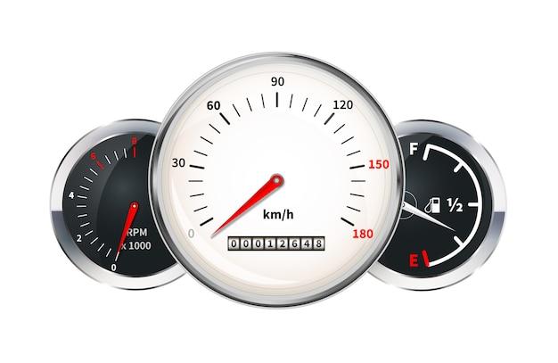 Auto-dashboard-elemente Premium Vektoren
