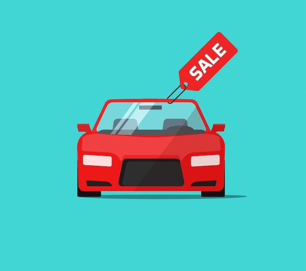Auto- oder autoverkauf Premium Vektoren