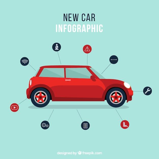 Auto Präsentationsvorlage | Download der kostenlosen Vektor