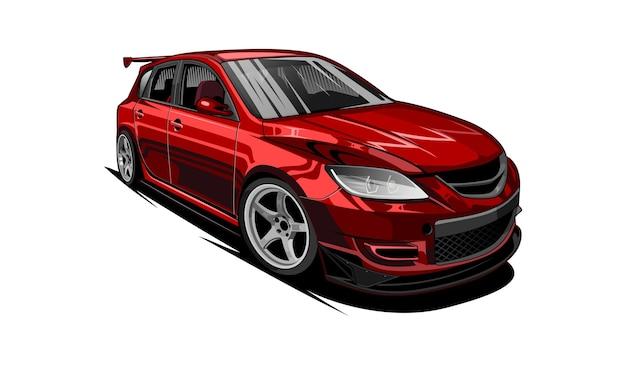 Auto roter sport Premium Vektoren