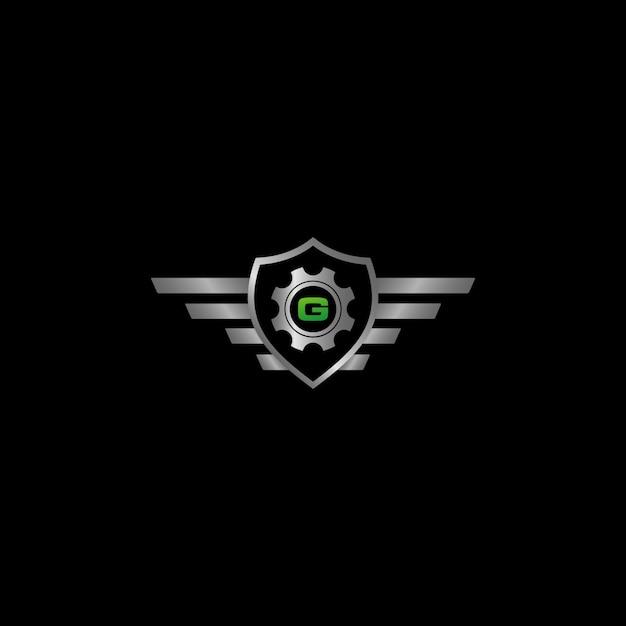 Auto-schutz-logo Premium Vektoren