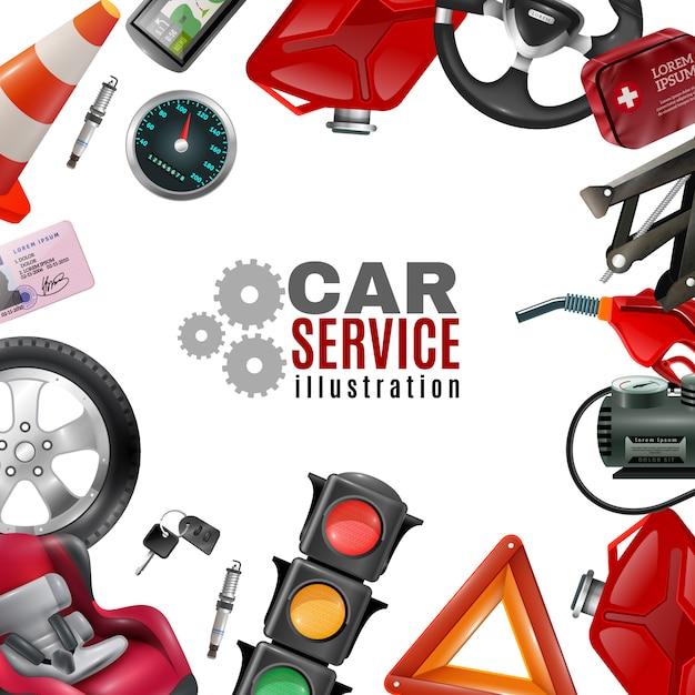 Auto-service-vorlage Kostenlosen Vektoren