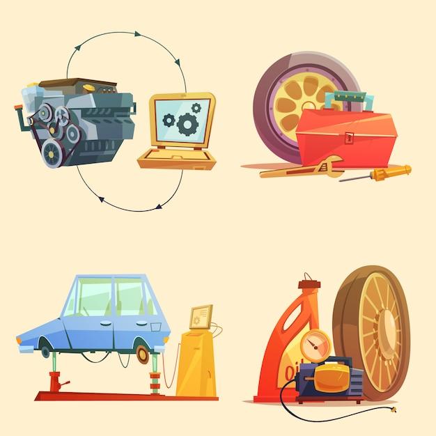 Auto-service-werkstattzentrum Kostenlosen Vektoren