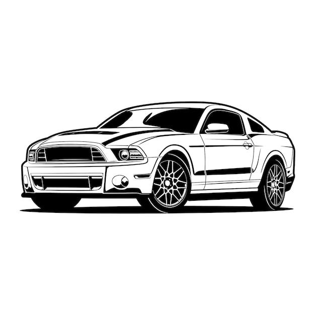 Auto silhouette illustration Premium Vektoren