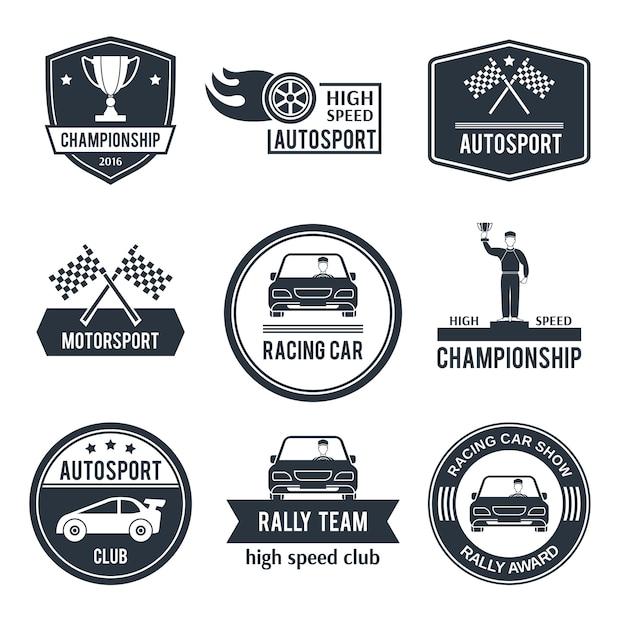 Auto sport label Premium Vektoren