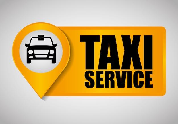 Auto-taxi-symbol. öpnv-design. taxi. flachen stil Premium Vektoren