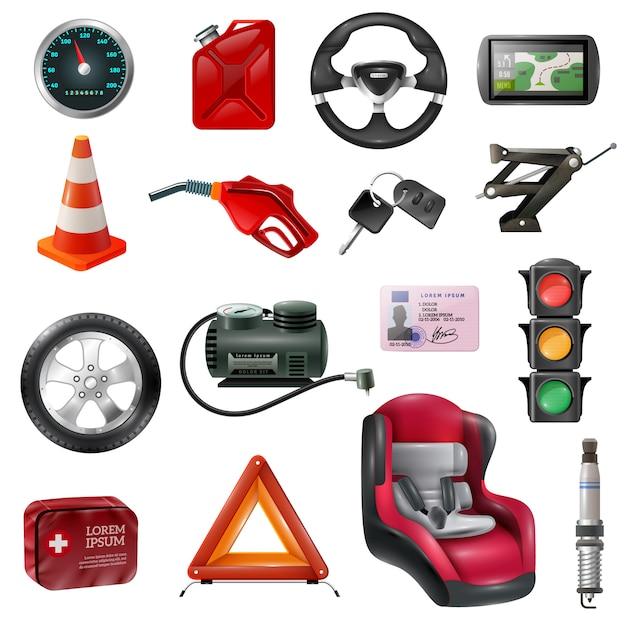 Auto-wartungsset Kostenlosen Vektoren