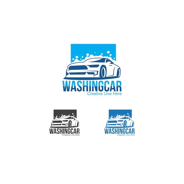 Auto waschen Premium Vektoren