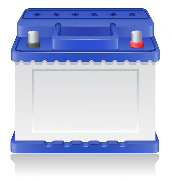 Autobatterie-vektor-illustration Premium Vektoren