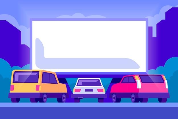 Autokino Kostenlosen Vektoren