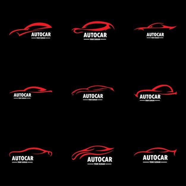Autologo im einfachen linie grafikdesign-schablonenvektor Premium Vektoren