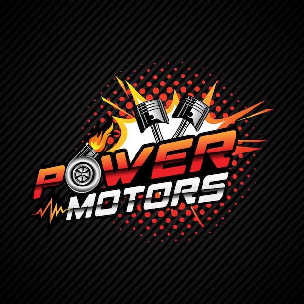 Automobil-power-logo Premium Vektoren