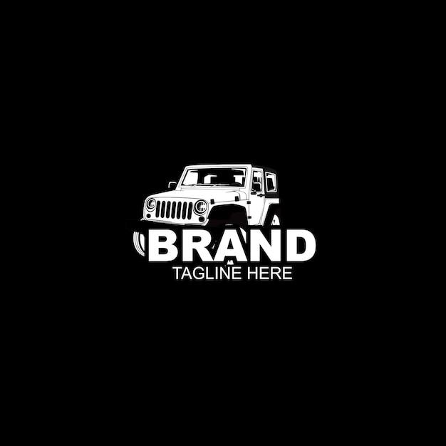 Automotive auto schwarz und logo vorlage Premium Vektoren