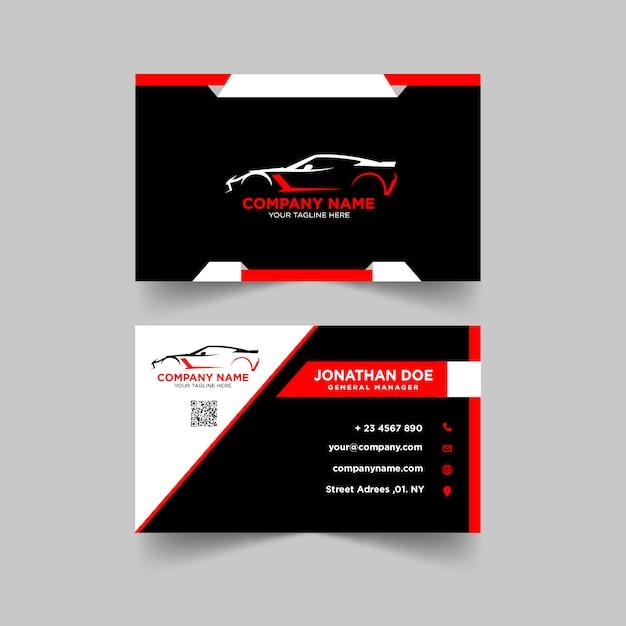Automotive business card design-vorlage Premium Vektoren
