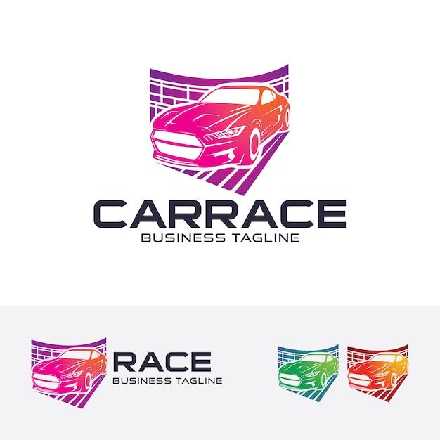 Autorenn logo vorlage Premium Vektoren
