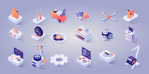 Autoreparaturservice Premium Vektoren