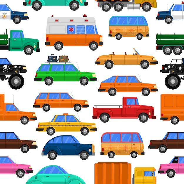Autos nahtlose muster Kostenlosen Vektoren