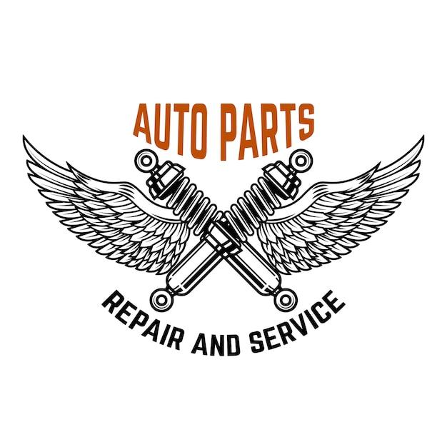 Autoservice. tankstelle. autoreparatur. element für logo, etikett, emblem, zeichen. illustration Premium Vektoren