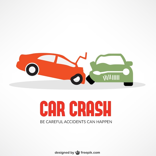 Autounfall Kostenlosen Vektoren