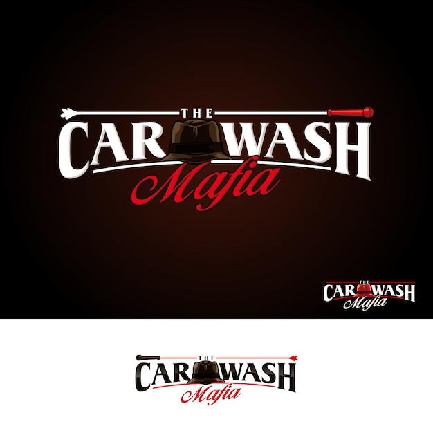 Autowasch-mafia-logo Premium Vektoren