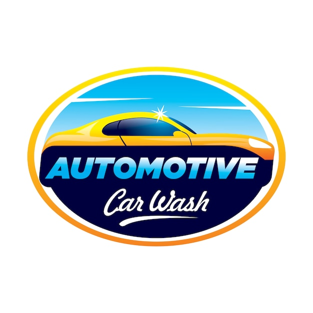 Autowaschlogo Premium Vektoren
