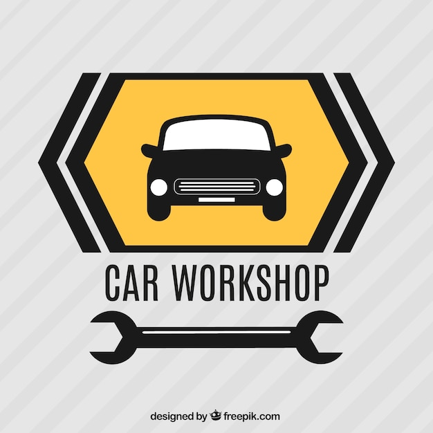 Autowerkstatt Kostenlosen Vektoren