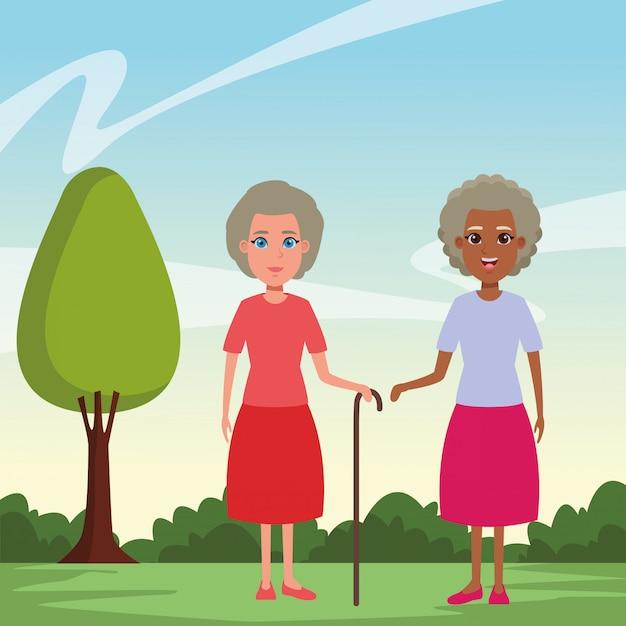 Avatar-cartoon-figur für ältere menschen Kostenlosen Vektoren