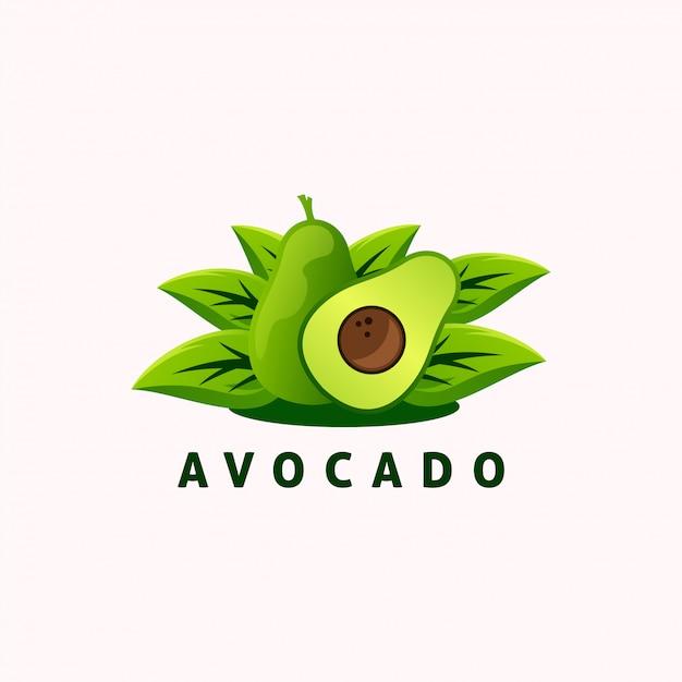 Avocado-frucht-logo Premium Vektoren