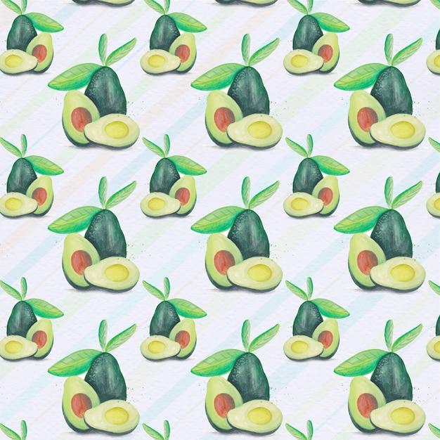 Avocado muster backgorund Kostenlosen Vektoren
