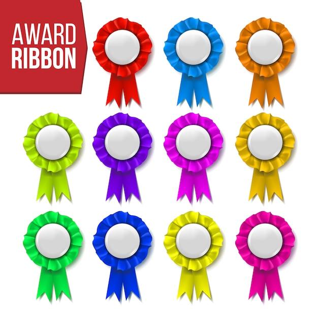 Award ribbon set Premium Vektoren