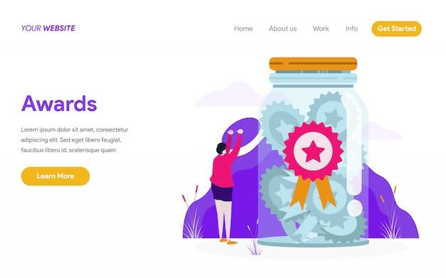 Awards illustration konzept Premium Vektoren