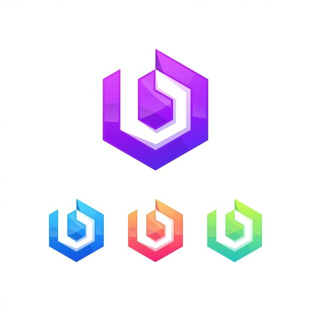 B-buchstaben-logo-symbolzeichen Premium Vektoren