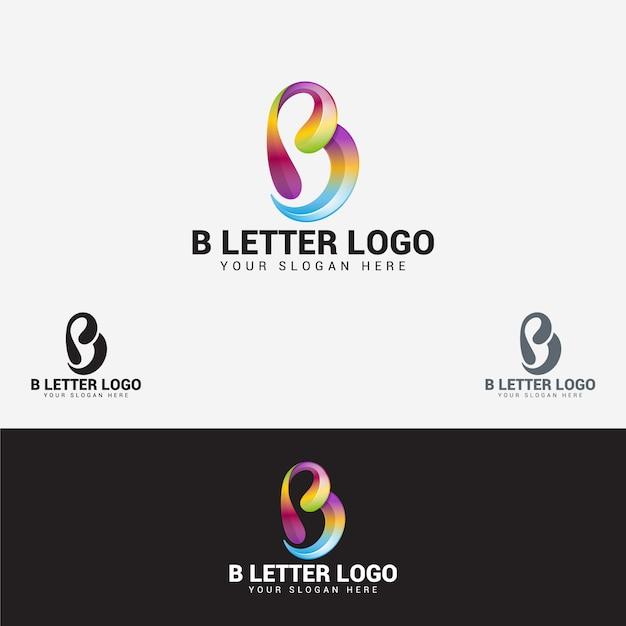 B buchstaben logo Premium Vektoren